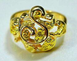 Gold Nugget Ladies Ring Orocal Rl462 Genuine Hand Crafted Jewelry - 14k Castin