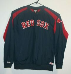 Large L Stitches Men's Red Boston Red Sox Track Jacket Full Zip Up Baseball
