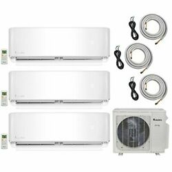 Klimaire 3-zone 20 Seer 12k X3 Wall Ductless Multi-zone Air Conditioner Heat Kit