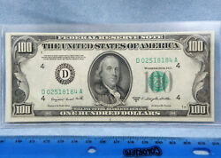 1950 C-cu 100 One Hundred Dollar Bill Federal Reserve Bank Note-cleveland