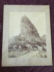 Andldquowestern Landscape With Horse And Riders In Military Unitandrdquo Post Civil War Pictureandnbsp