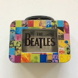 The Beatles Apple Corps 2002 Collectible Metal Patchwork Tin Snack Lunch Box