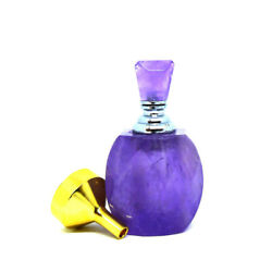 Purple Amethyst Perfume And Essential Oil Natural Stone Bottle W Crystal Dropper