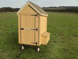Colonial Gable Chicken Coop With Wheels - Perfect For Backyard Chickens.