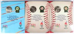 Lot Of 3 1995-s Baseball And 1996-s Swimming Olympic Coin And Pin