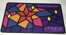 Macy's Feliz Navidad Stained Glass Window Gift Card No Value Collectible New