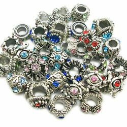 Authentic Pandora Charms 30 Assorted Crystal Rhinestone Bead Charm Spacers NEW