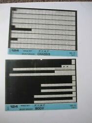 Fiat 124 Spider 1976 1977 Set Of 2 Body And Chassis Parts Microfiche Cards