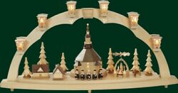 Candle Arches Seiffener Church + Pyramid Electric Illuminated Arch New 01027