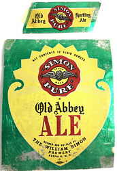 William Simon Brewery Pure Beer Label Old Abbey Ale Buffalo New York Foil And Nexk