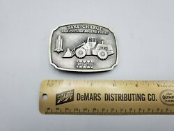 1988 Ji Case Tractor Parts Trade Fair Belt Buckle Take Charge - Fine Pewter