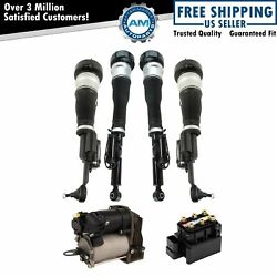 Air Suspension Shock Assemblies W/ Compressor And Valve Block For Mercedes