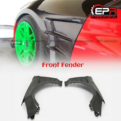 Carbon Vented Front Fender Mudguards 2pcs For 09-16 Hyundai Genesis Rohens Coupe