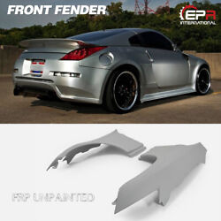 New For Nissan Z33 350z Do Style Wide Body Kit Front Fender Mud Guard Frp 2pcs