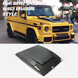 For Mercedes Benz W463 G Class Carbon Brs Style Front Hood Vented Scoop Add-on