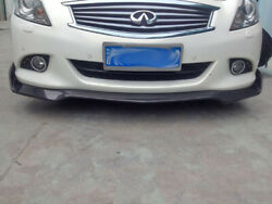 For Infiniti 07-13 G25 G37 Wd Style Carbon Front Lip Spoiler Addon 4door Only