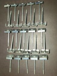 25 Pcs Nors Windshield And Garnish Moulding Clips 1950and039s Buick Cadillac Chevy