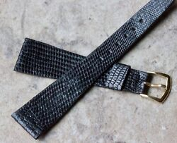 Scarce 21mm Size Thin Tapered Genuine Lizard Vintage Watch Strap 1960s/70s Nos