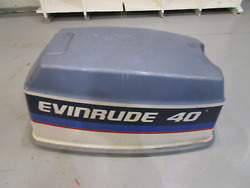 0279842 Evinrude Johnson Outboard 40 Hp Manual Start Top Motor Cover Cowl 1970's
