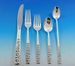 Contessina By Towle Sterling Silver Floral Flatware Set For 8 Service 54 Pieces