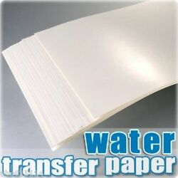 A4 Inkjet Water Slide Decal Paper Pack Of 20 Transparent X 50 Packs In One Case