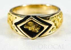 Gold Nugget Men's Ring Orocal Rmbs1 Genuine Hand Crafted Jewelry - 14k Casting
