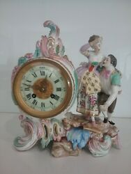 Antique French Meissen Clock With S. Marti Movement