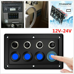 4 Gang Rv Car Yacht Boat Cabin Single Touch Panel Control Light Switch Dc 12-24v