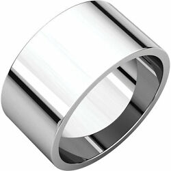 Palladium 10mm Flat Top Barrel Band Wide Ring Not Tapered Wedding Band