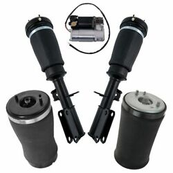 5 Piece Air Suspension Kit Front Shocks Rear Air Springs And Compressor For Bmw X5
