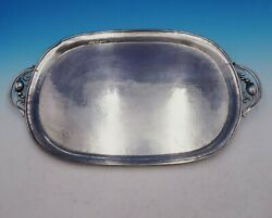 Blossom By Petersen Of Canada Silverplate Tea Tray Marked Petersen Epoc 4473