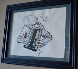 John Seabury Original Ink On Paper Drawing This Guy Is Either Hungry Or Confused