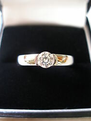 Platinum Diamond Single Stone Ring F Colour With Gia Cert Made In Uk Brand New
