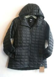 The Womens Eco Thermoball Hoodie Jacket- S- Xl- Tnf Black Matte- New