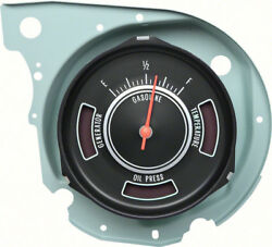 Oer Reproduction Fuel Gauge With Warning Lights 1969 Chevrolet Chevelle