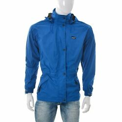 Halti Men Active Dry Hooded Lightweight Soft shell Jacket Size 40 Blue Authentic