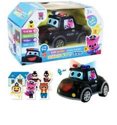 Pinkfong Baby Shark Brave Police Car Toy 6 Paper Dolls 5 Korean Songs Led Light