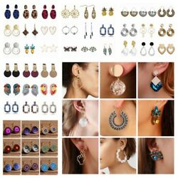 Fashion Vintage Girl Women Ear Stud Drop Dangle Earrings Jewelry Wedding Gift