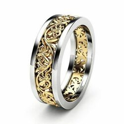 Women#x27;s Stainless Steel Gold Silver Wedding Band Ring Florentine European Design $6.95