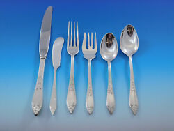 Lady Claire By Stieff Sterling Silver Flatware Set For 6 Service 36 Pieces