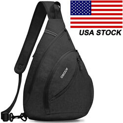 Men#x27;s Women#x27;s Large Sling Pack Chest Cycle Satchel Backpack Single Shoulder Bag $16.99