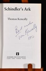 1982 Schindler's Ark Thomas Keneally Uncorrected Proof Copy Signed