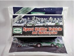 Hess Truck + 2 Motorcycles,2004 Brand New, Original Box And Shopping Bag