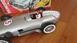 Jnf 1950's Tin Toy Race Car 13 Famous Mercedes Benz W 196 Made W Germany 1950's