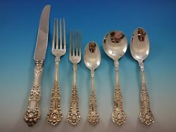 Queens By Birks Sterling Silver Flatware Set Dinner Service 37 Pieces Canadian