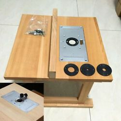 Router Table Insert Plate 4 Insert Rings Set Tool For Woodworking Benches