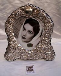Magnificent Elizabeth Taylor Sterling Silver Picture Frame 'must See'