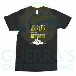 T Shirt mountain view climb gift funny great parents family camping Design 0239