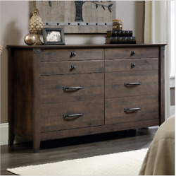 Chest Of Drawers Large Home Bedroom Oak Decor Six 6 Drawer Dresser Furniture New