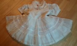 Vintage 1950's Sheer Nylon Princess White Dress and Blouse Baby Girl 2T